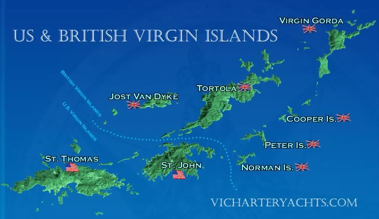 US Virgin Islands Map British Virgin Islands Map